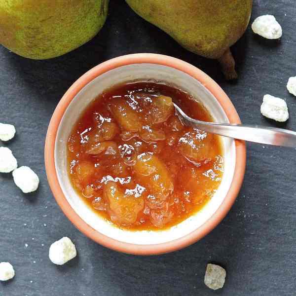Pear and Ginger Preserve – A Brown-Sugar 4-Ingredient Jam Recipe