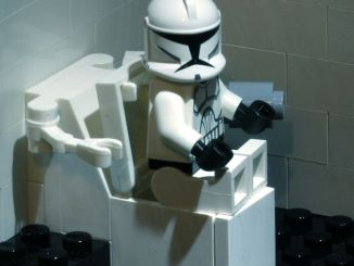 Storm Trooper in Restroom