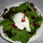 Poached Egg and Bacon Salad2