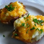 Twice Baked Potatoes with Cheddar2