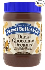 Peanut Butter & Co. Peanut Butter, Dark Chocolate Dreams, 16 Ounce Jars (Pack of 6) from Peanut Butter & Co.