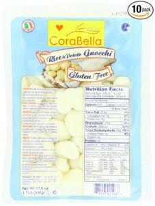 Corabella Gluten Free Gnocchi, Potato and Rice, 17.6 Ounce (Pack of 10)