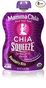 Mamma Chia Squeeze Vitality Snack, Blackberry Bliss, 3.5 Ounce (Pack of 8)
