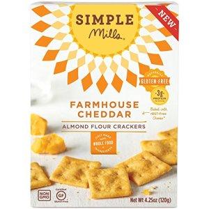 Simple Mills Almond Flour Crackers, Farmhouse Cheddar, 4.25 Ounce