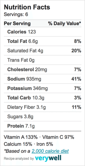 Nutrition-Label-broccoli soup