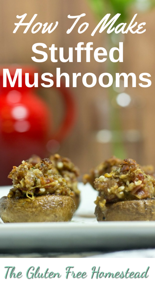 Gluten Free Stuffed Mushrooms | Party Appetizer | Gluten Free Recipe | Paleo Recipe | Holiday appetizer