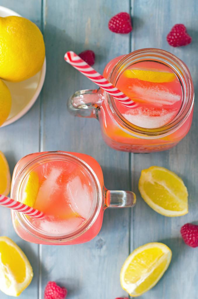 Sparkling Raspberry Lemonade Pressé