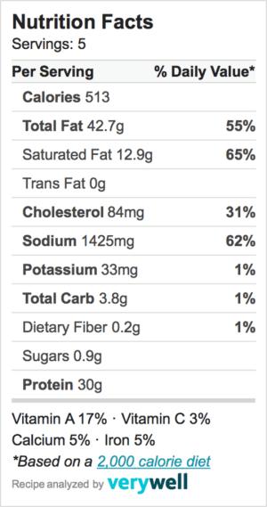 Nutrition-Label-mozarella wrapped in prosciutto