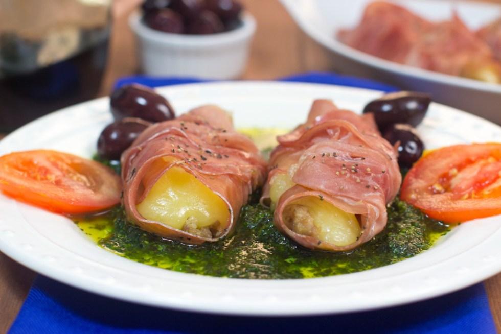 Mozarella, prosciutto, gluten free, appetizer