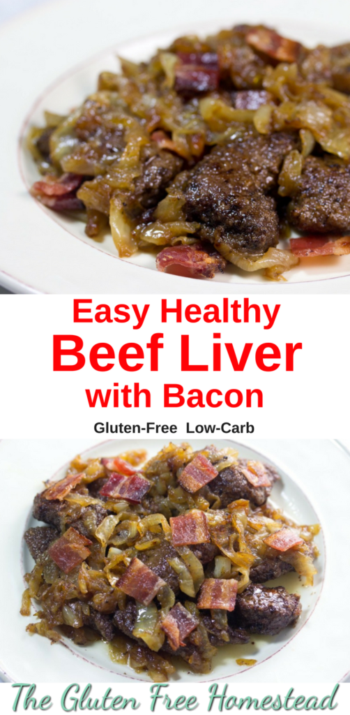 Click pin for tips to make delicious liver| Liver with bacon and onions | gluten free recipe | paleo recipe | low-carb