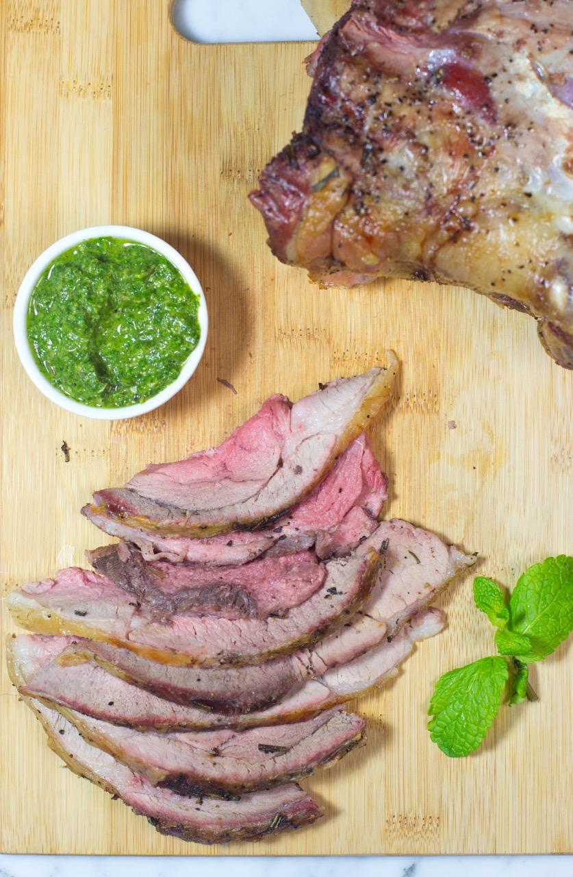 Leg of lamb, mint pesto, mint, lamb soup, paleo, gluten free