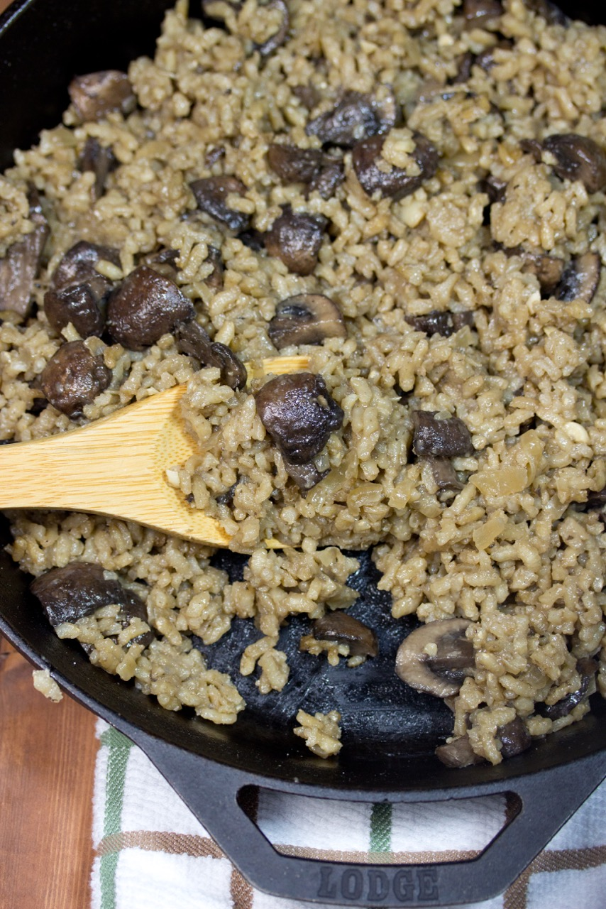 How To, Risotto, Baby Bella Mushrooms, gluten free