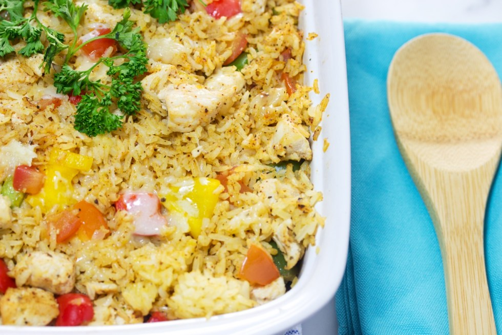 Tex Mex chicken rice casserole
