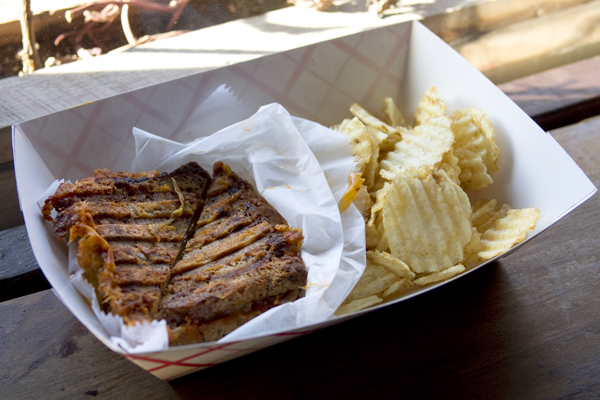 Kimcheelicious grilled cheese sandwich with kimchee