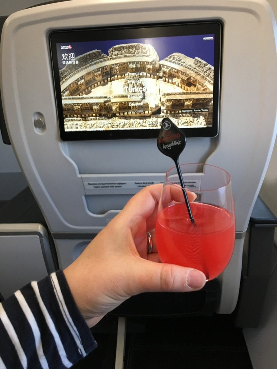 Flying business class on Turkish Airlines