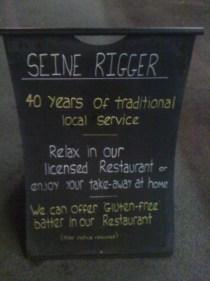 adventures of a gluten free globetrekker The Seine Rigger: Gluten Free Fish & Chips London