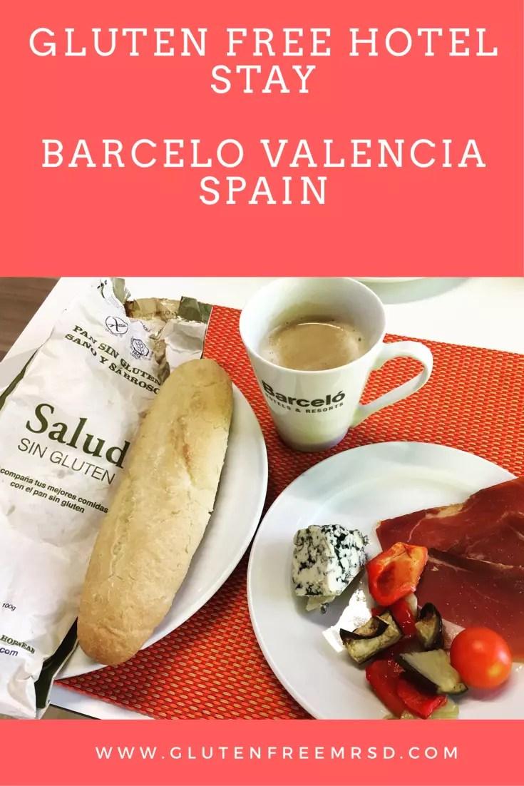 Gluten free hotel stay Valencia Spain