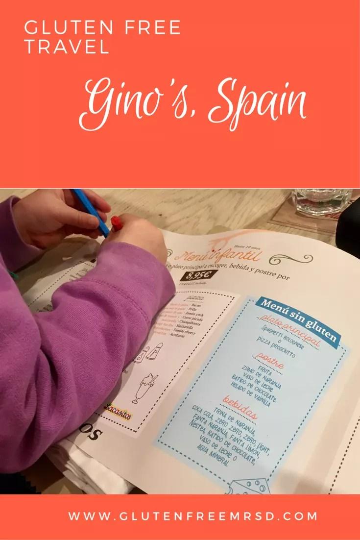 Gluten free restaurant Spain