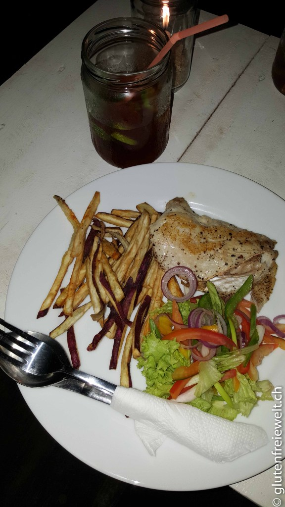 Red Snapper mit Sweet Potato-Pommes