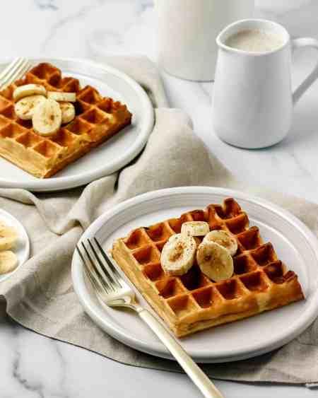 Greek Yogurt Banana Blender Waffles