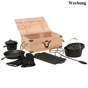 Dutch Oven Set in Holzkiste