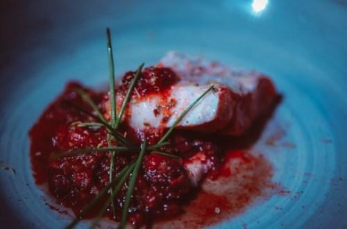 Kabeljau im Chorizo - Tomaten- Sud