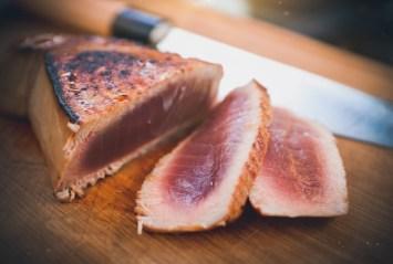 Thunfisch in Tranchen