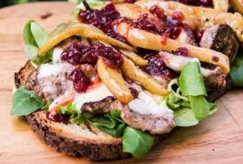 Sandwich mit Preiselbeeren
