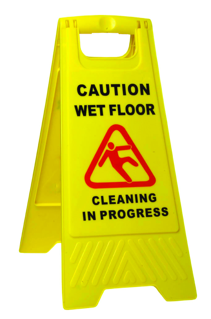 Sabco Caution Wet Floor AFrame Sign Yellow