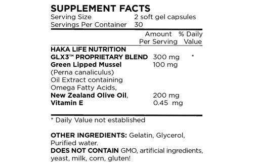 Image result for glx3 supplement facts