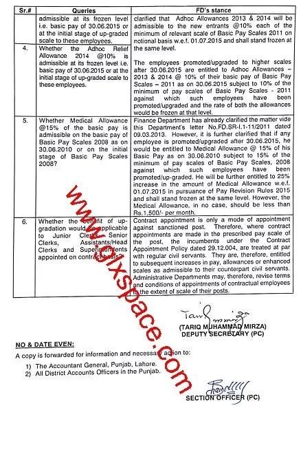 Clarification of Upgradation of Junior Clerk, Senior Clerk