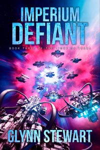 Military space opera Imperium Defiant by Glynn Stewart, book 3 in the Light of Terra trilogy.