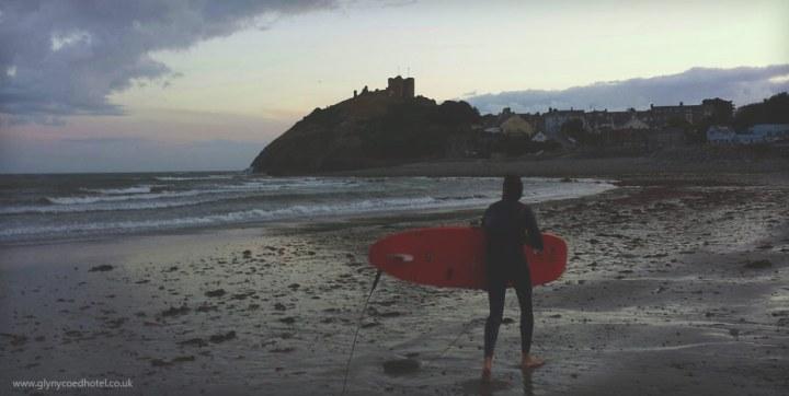 Surfing in Criccieth