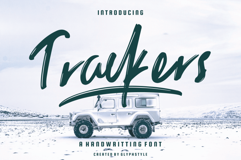 Preview image of Trackers Handwritten Font