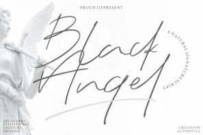 Black Angel Natural Signature Script