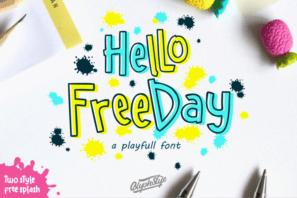 Hello freeday Two Style Font