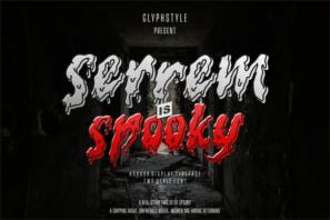 Serrem Spooky Two Style Font