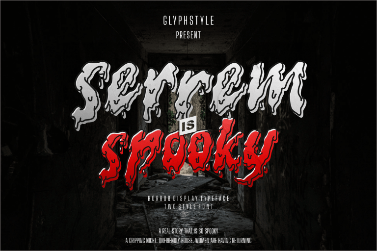 Preview image of Serrem Spooky Two Style Font