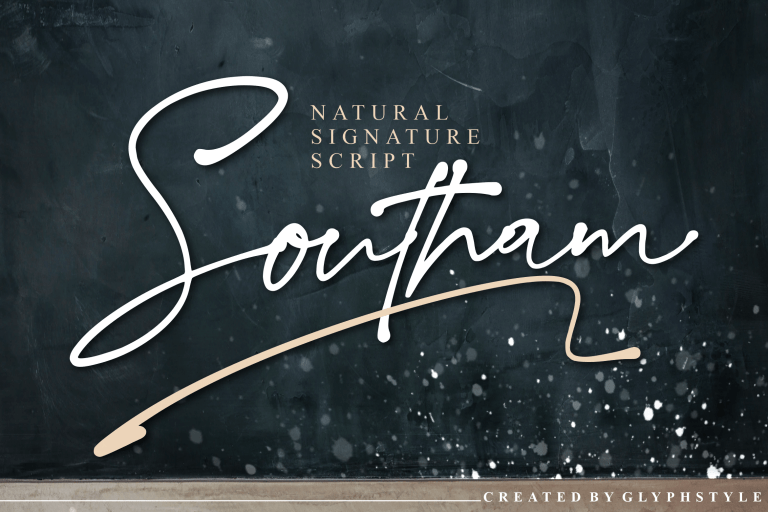 Preview image of Southam Natural Signature Script