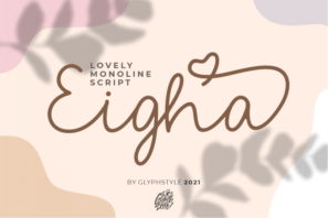 Eigha Lovely Script
