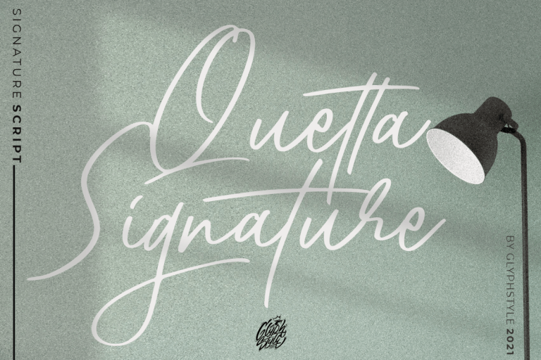 Preview image of Quetta Signature Script