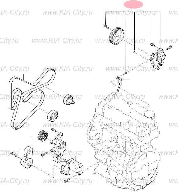 Система охлаждения для Kia Sportage III (Киа Спортейдж 3)
