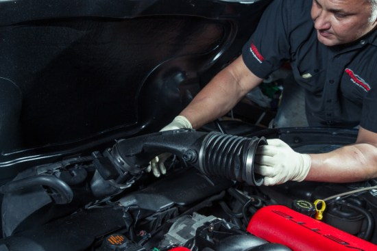 Just like the F-body, the intake can all be removed as once piece once all the hose clams are loosened and everything is all unplugged. This alone makes the installation and removal process of intake systems very easy.