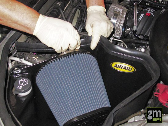 This seal installs on top of the filter shroud to seal it against the hood and prevent the filter from sucking in hot air from the engine compartment. When an engine ingests too much hot air, it raises the air intake temperatures read by the MAF sensor, and will cause the computer to reduce ignition timing and thereby decreasing horsepower.