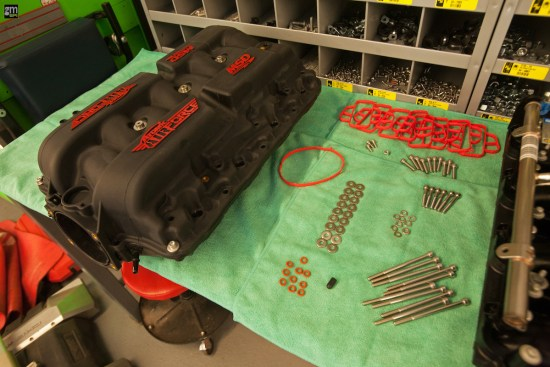 Included with part number 2701 intake manifold kit are all of the seals/gaskets, o-rings, screws, nuts, bolts, and washers needed for installation.