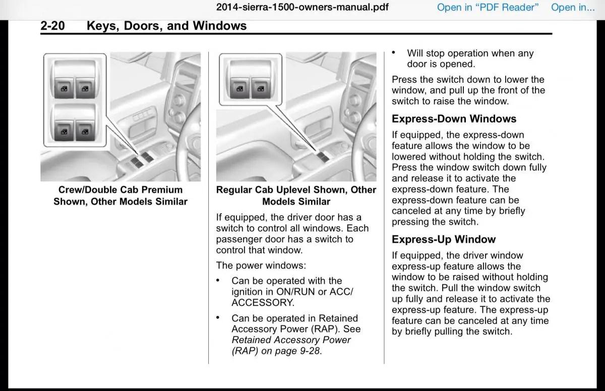 Auto Up On Power Windows