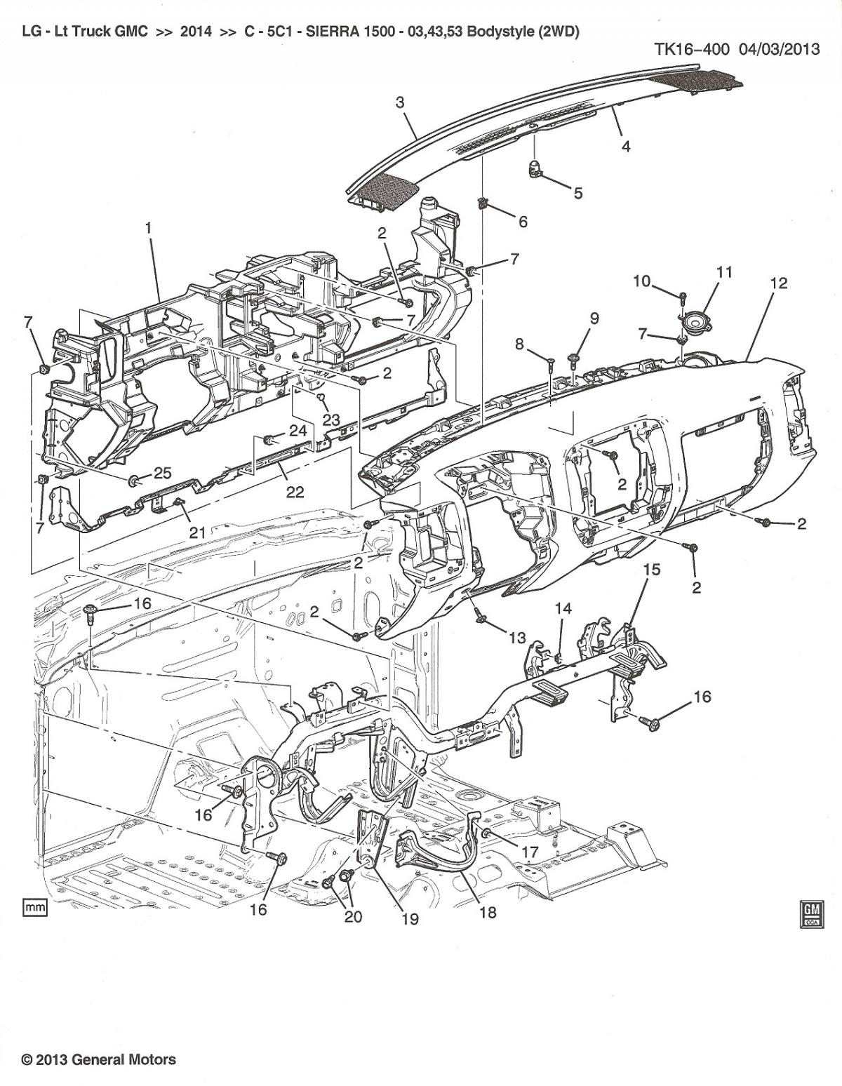 Chevy Silverado Front End Parts Diagram