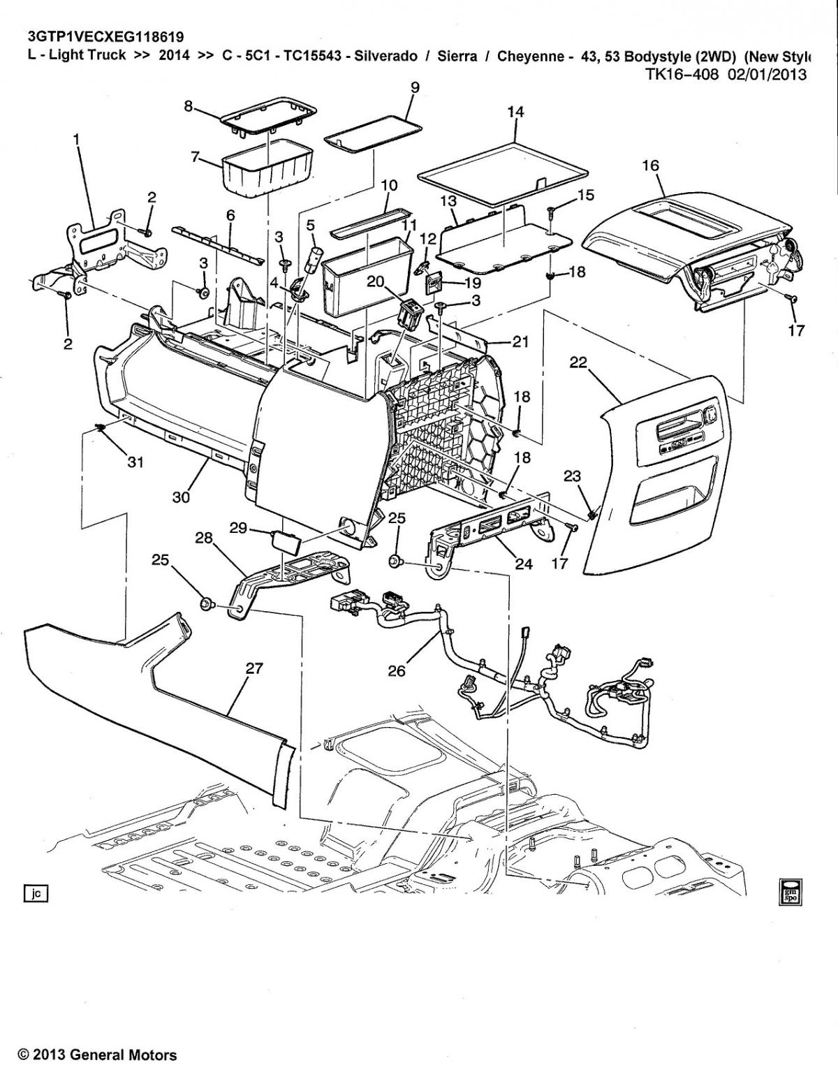 Chevy Silverado Parts Diagram