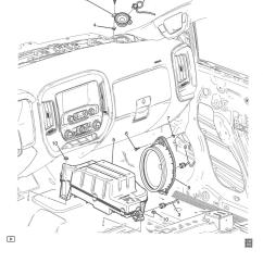 Parts Of A Speaker Diagram 1999 Toyota Corolla Fuse Box Dash Speakers 2014 2018 Silverado And Sierra Mods Gm