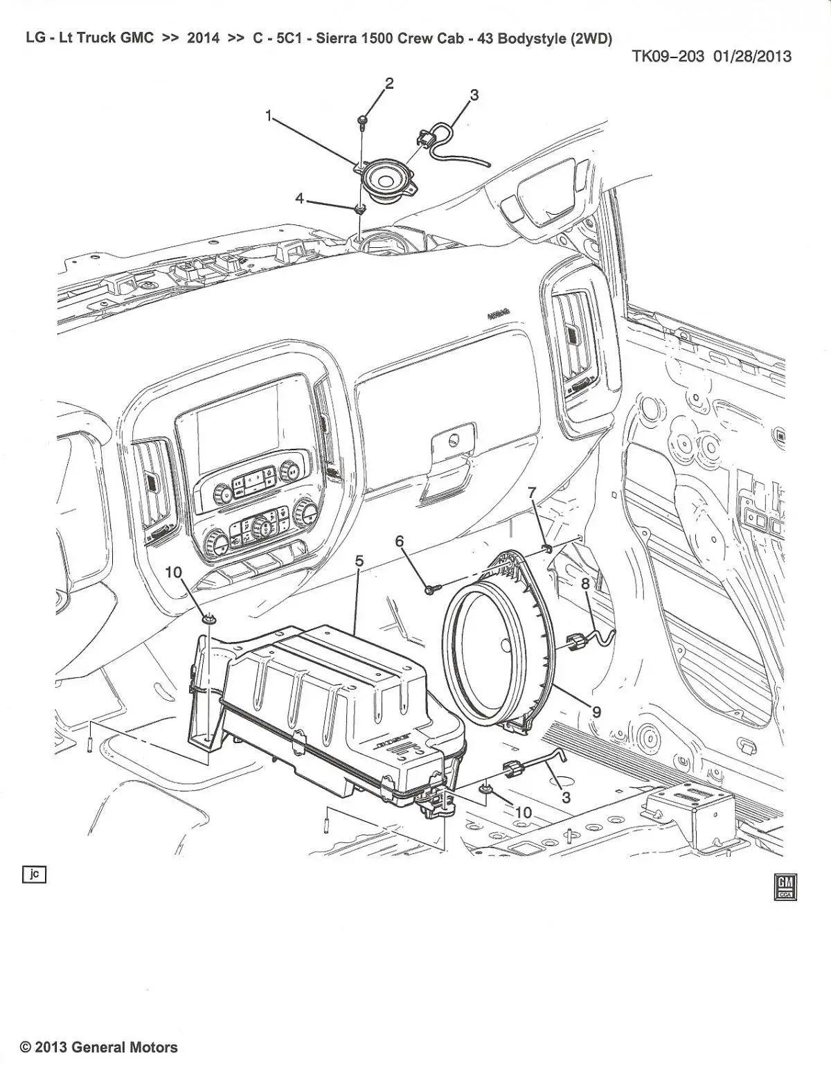 2014 gmc sierra speaker wiring diagram